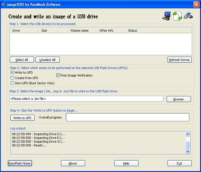 ImageUSB 快速備份USB隨身碟